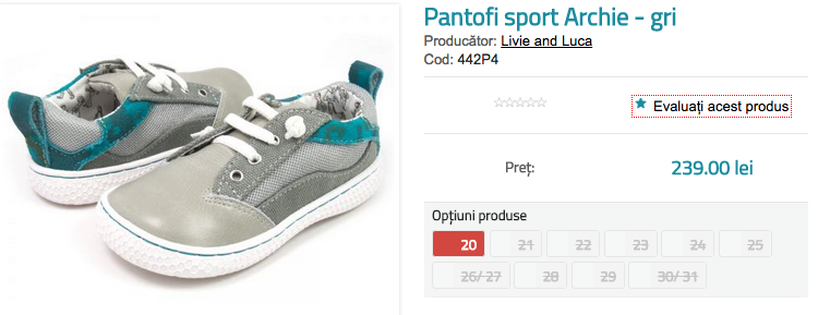 Pantofi copii sport Archie