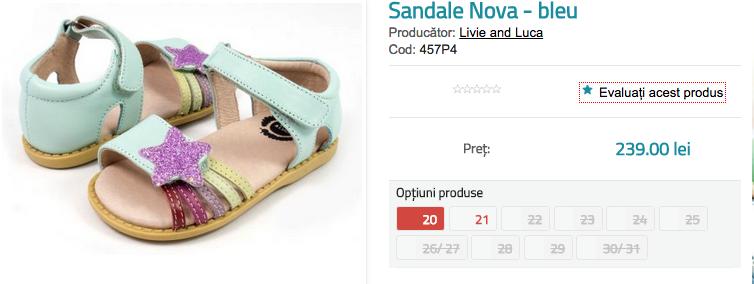 Sandale fetite Nova