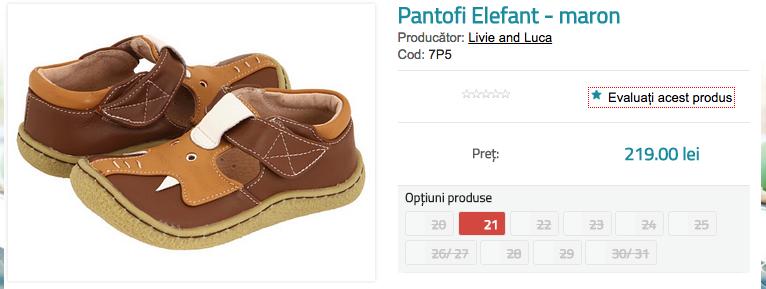 Pantofi copii Elefant