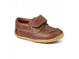 Pantofi baieti Ahoy din piele naturala maron