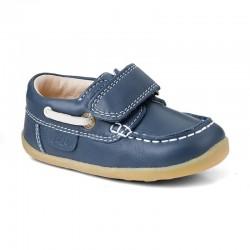Pantofi baieti Ahoy din piele naturala bleumarin
