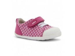 Pantofi fete sport Metro din piele naturala roz