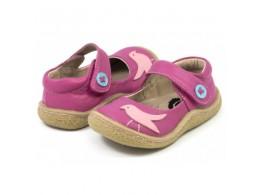 Pantofi fete Pio Pio din piele naturala fucsia