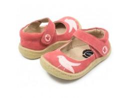 Pantofi fete Pio Pio din piele naturala corai