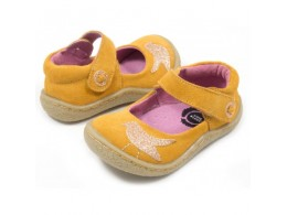Pantofi fete galbeni Pio Pio din piele naturala