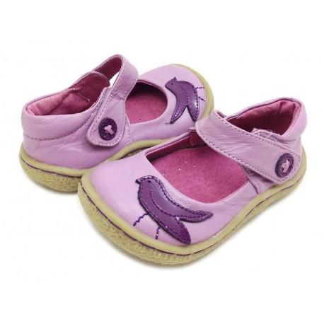 Pantofi fete Pio Pio din piele naturala lavanda