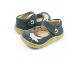 Pantofi fete Pio Pio din piele naturala gri