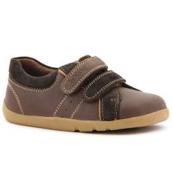 Pantofi baieti sport maron Fast Forward din piele naturala