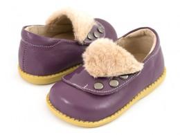 Pantofi fete Quennie din piele naturala mov