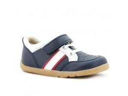 Pantofi baieti sport bleumarin Speed Racer din piele naturala