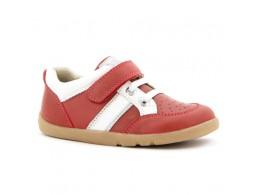 Pantofi copii rosu Speed Racer sport din piele naturala