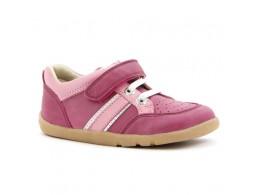 Pantofi fete sport Speed Racer din piele natural roz