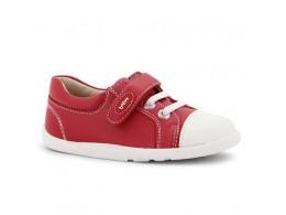 Pantofi copii sport Polar din piele naturala rosu pompei