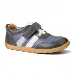 Pantofi baieti sport Up and Away din piele naturala gri/ mov