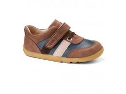 Pantofi baieti sport Up and Away din piele naturala albastru/ maron