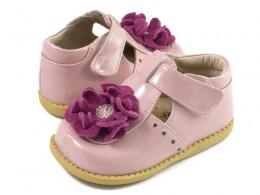 Pantofi fete Blossom din piele naturala roz