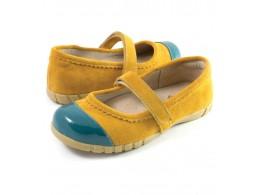 Pantofi fete galben Piper din piele naturala