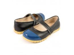 Pantofi fete negru Piper din piele naturala