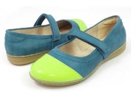 Pantofi fete albastru Harper din piele naturala