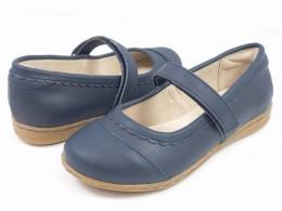 Pantofi fete Harper din piele naturala bleumarin