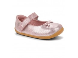 Pantofi fete Little Ballerina din piele naturala roz