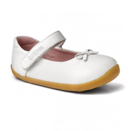 Pantofi fete alb Little Ballerina din piele naturala