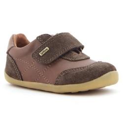 Pantofi sport baieti Voyager din piele naturala maron