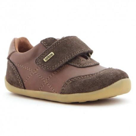 Pantofi baieti Voyager din piele naturala maron