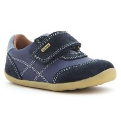 Pantofi sport baieti Voyager din piele naturala bleumarin