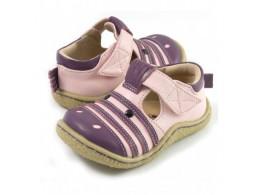 Pantofi fete Zebra din piele naturala roz