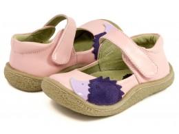 Pantofi fete Arici din piele naturala roz