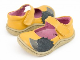Pantofi fete galben Arici din piele naturala