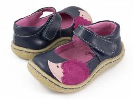 Pantofi fete Arici din piele naturala bleumarin