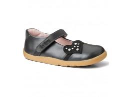 Pantofi fete negru Rockstar din piele naturala