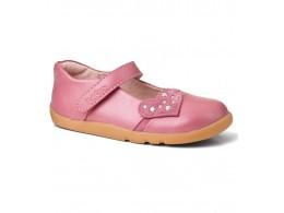 Pantofi fete roz Rockstar din piele naturala