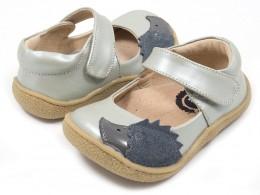 Pantofi fete argintiu Arici din piele naturala