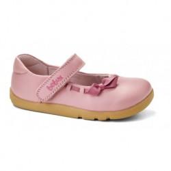 Pantofi fete Balerina din piele naturala roz