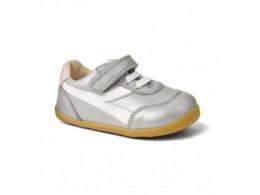 Pantofi fete argintiu Lickity Split sport din piele naturala