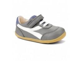 Pantofi baieti sport Lickity Split din piele naturala gri
