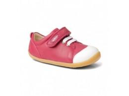 Pantofi fete sport Ice Cap din piele naturala roz fucsia