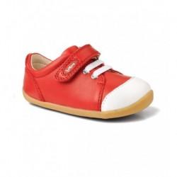 Pantofi copii rosu Ice Cap sport din piele naturala