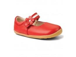 Pantofi fete rosu Pretty Paris din piele naturala
