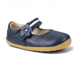 Pantofi fete bleumarin Pretty Paris din piele naturala