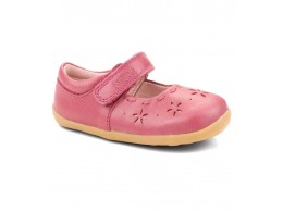 Pantofi fete Dancing Daisy din piele naturala roz