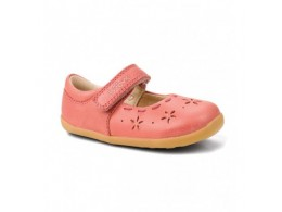 Pantofi fete Dancing Daisy din piele naturala corai