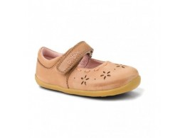 Pantofi fete Dancing Daisy din piele naturala bej