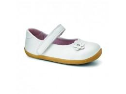 Pantofi fete alb Little Star din piele naturala