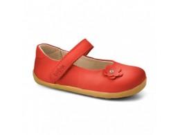 Pantofi fete rosu Little Star din piele naturala