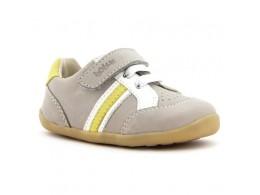 Pantofi copii bej Trackside sport din piele naturala
