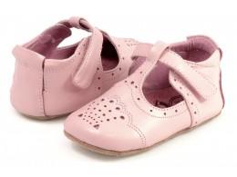 Pantofi bebelusi Cora din piele naturala roz